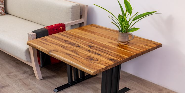 Solid Teak, Smooth Natural Finish