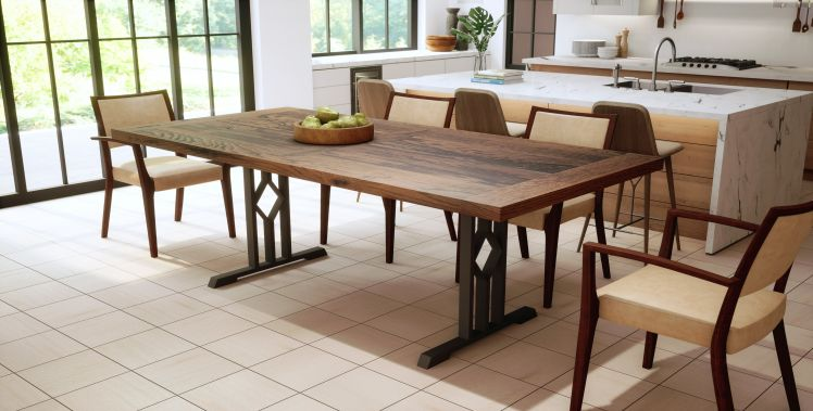 Solid Oak, French Country Top, Sand Blasted Autumn Finish