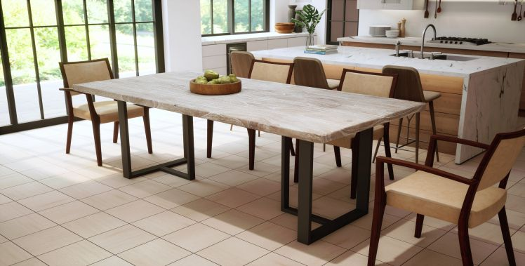 Solid Teak, Plank Top, Sand Blasted Sun Bleached Finish